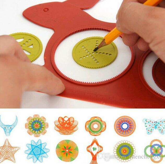 Creative Variety pattern board Painting drawing tool Versatility Geometric Sketchpad Ruler Educational Toys