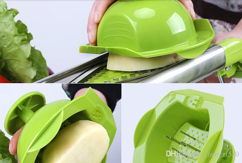 Premium Edelstahl Mandoline mit 5 austauschbaren Klinge Food Slicer Cutter Pommes Frites Juilienne Sticks
