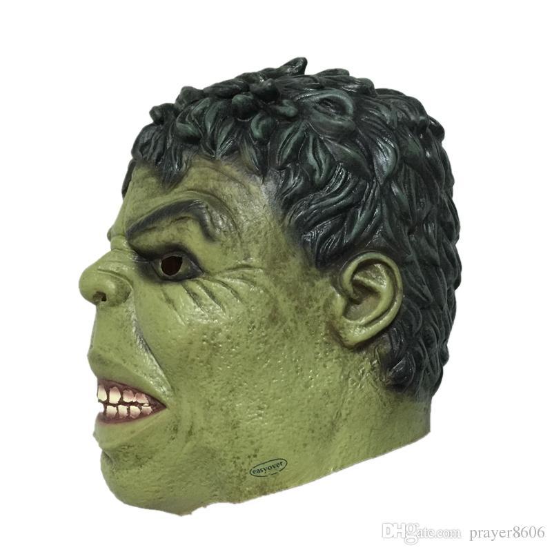 Máscara gigante de látex gigante Halloween de dibujos animados Hulk Máscaras de goma para la cabeza Fiesta de carnaval Cosplay Superhéroe Bruce Banner Mascarada Adulto