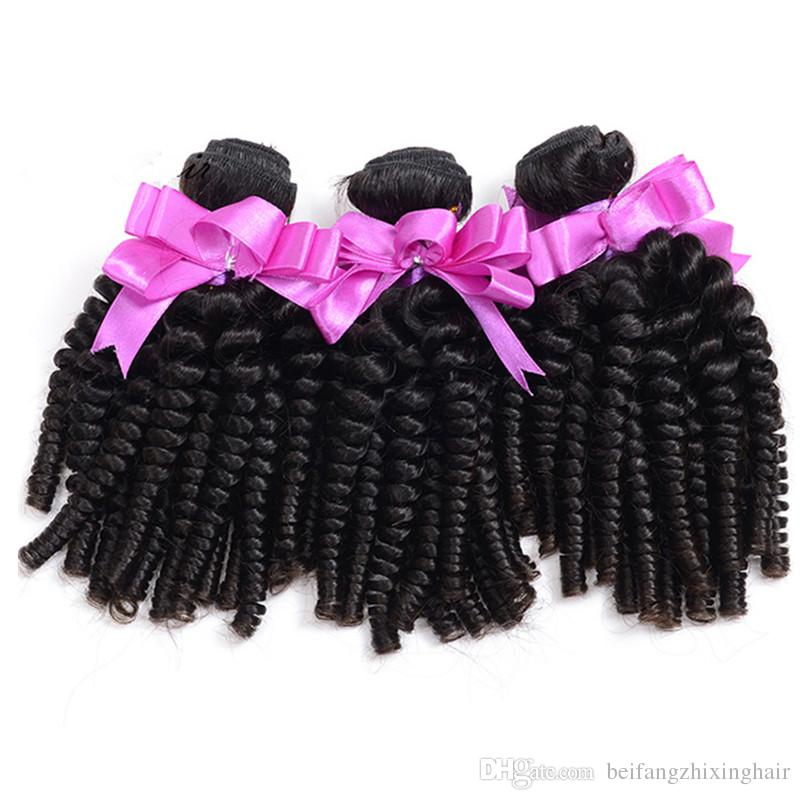 Grade 8A--Thickness Afro Kinky Curly Hair Spiral Curl Weave Human Peruvian Virgin Hair Curly Wave Aunty Funmi Bouncy Curls, Free DHL