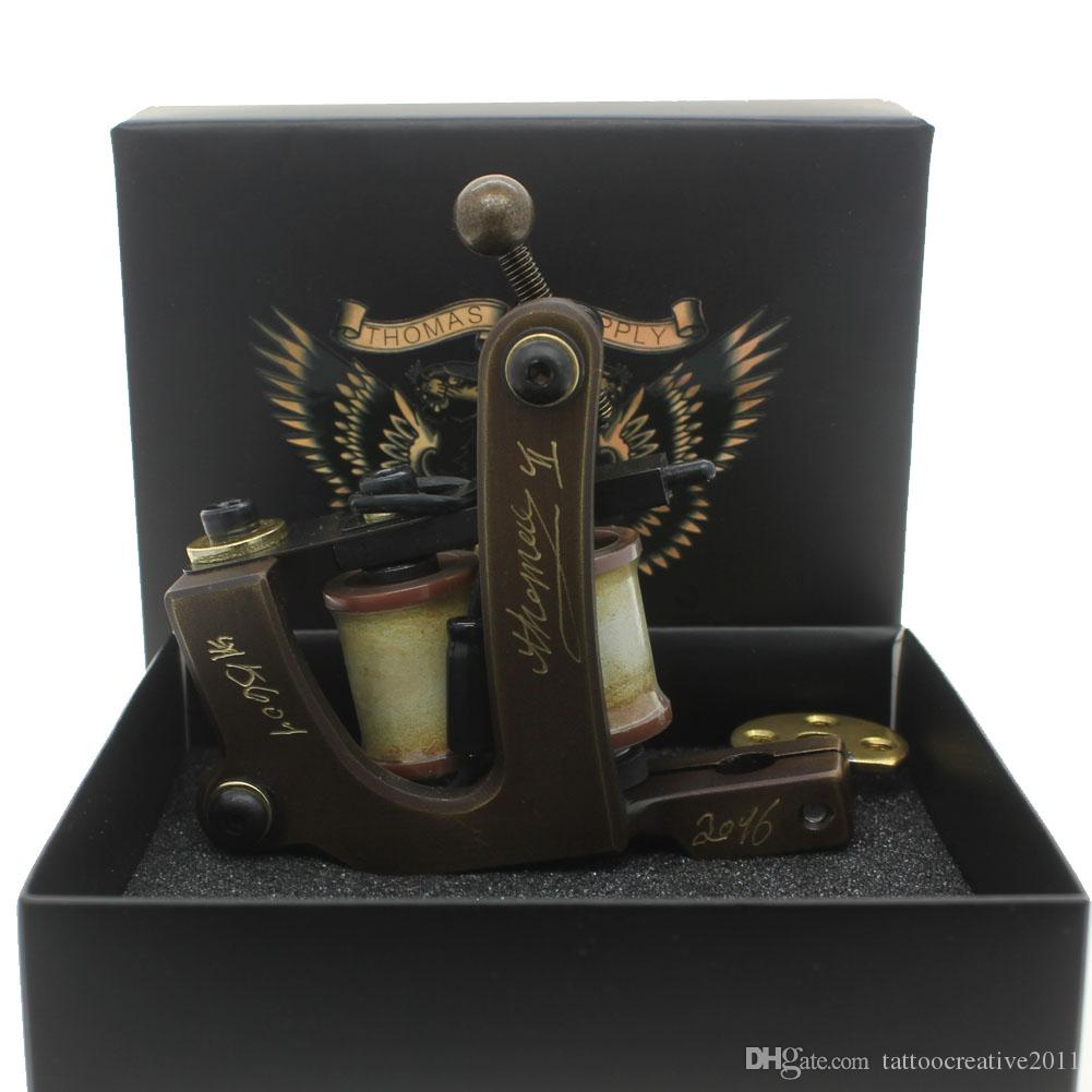 New arrival carved brass machine tattoo gun for shader