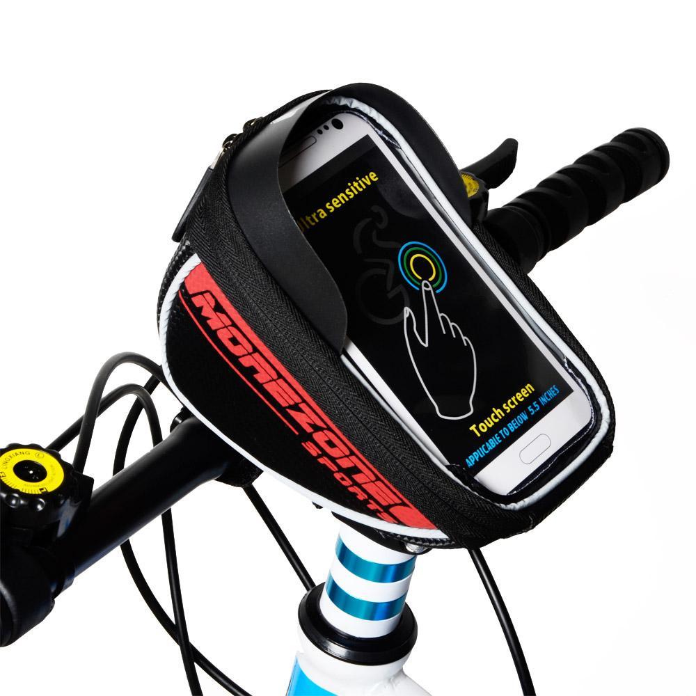 Bicycle Handlebar Bag Pannier Touchscreen Bike Phone Holder Bag