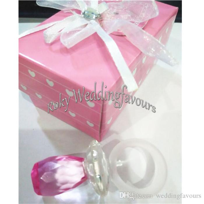 Collection Crystal Baby Choice Pink Pacifier Favors 1st Birthday Party Gifts Shower Idea Children Childrens Decorations