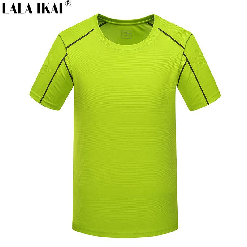 Wholesale-Men'S T Shirt Outdoor Sport Breathable Quick Dry Tshirts Men Running Hiking Coolmax Men'S Tee Short Sleeve T Shirt