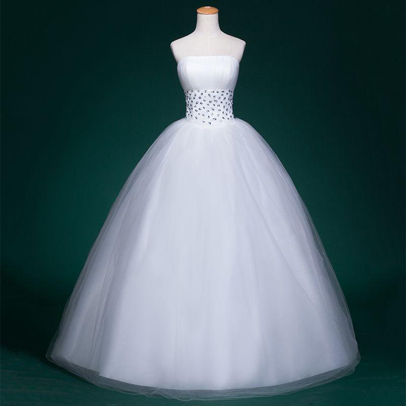Tulle 볼 가운 비즈와 Strapless 웨딩 드레스 2016 층 길이 웨딩 가운 레이스 위로