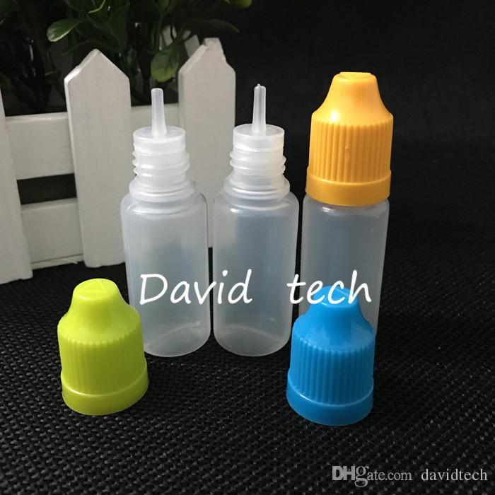 ПЭ электронной жидкие бутылок EGO иглы бутылки с крышкой безопасности недоступной для детей и длинный тонким кончик капельницы 10 мл бутылки