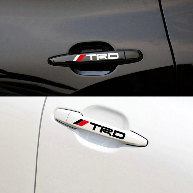 Online cheap new car door handle decal reflective sticker trd car doorknob sticker auto knob grip body decoration for toyota by claire1688 dhgate com