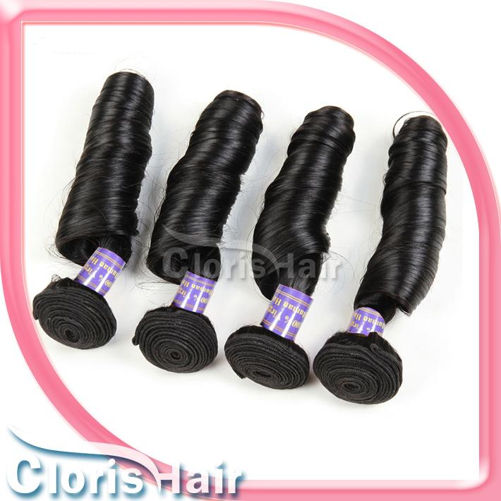 Fashionable Nigeria Aunty Funmi Unprocessed Human Hair Extension Indian Remi Spiral Romance Curl 3 Bundles Bouncy Curly Spring Curls Weave