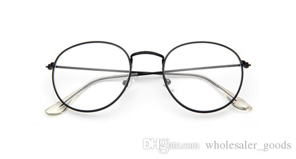 Старинные овальные золотые оправы для очков 2018 старинные овальные прозрачные золотые оправы для очков ретро стальные ноги очки Очки Мужчины Женщины металл равнина