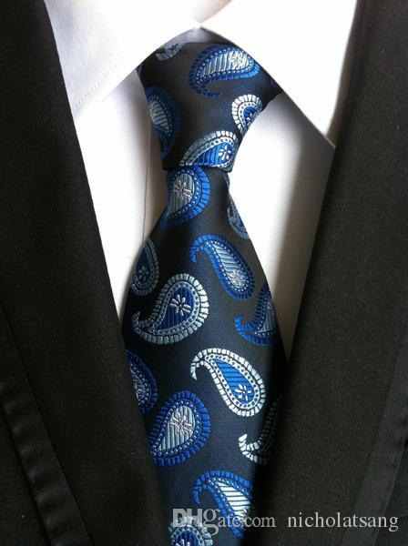 8 스타일 빈티지 남성 정장 페이즐리 넥타이 폴리 에스터 실크 격자 무늬 넥타이 플로랄 Gravata for Mens Vestidos 플로랄 패션 넥 넥타이 남성용