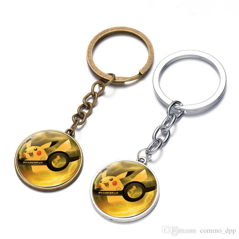 18 Styles Alloy Cartoon Key chain Cool Creative keychains RPG mobile game theme Key Chain Bag Pendant Car Keychain