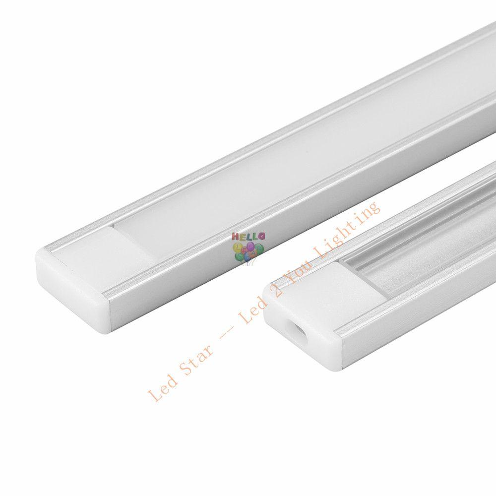 Profilo in alluminio da 1 m 1,5 m 2 m striscia LED 5050 5630 LED barra rigida barra led barra in alluminio alloggiamento del canale con clip di chiusura