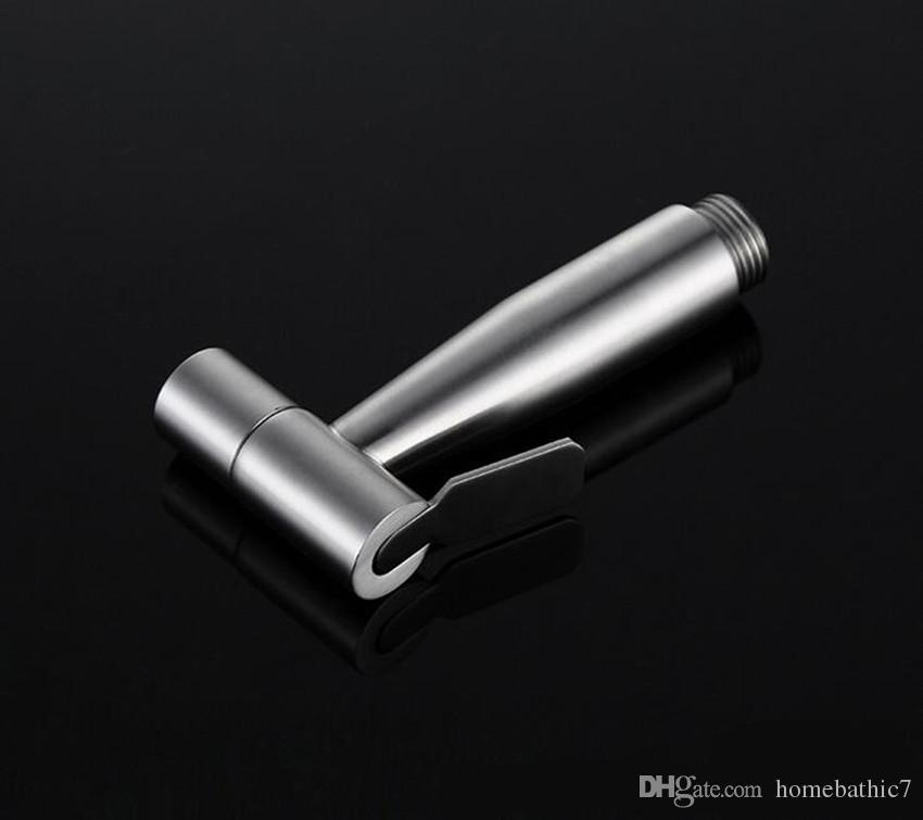 El Bide Püskürtme Premium Paslanmaz Çelik Püskürtücü Shattaf - Tuvalet için Fırçalanmış Nikel Bide Seti, El Bide Püskürtme Tuvalet
