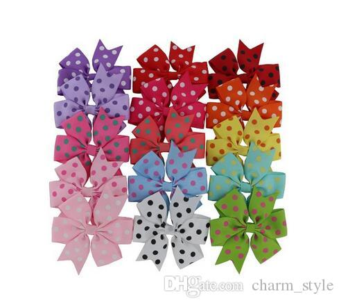 "15% off! 2016 new handmade 3"" Hair Bows hair clip Baby Ribbon Bow hairpin baby girl headband Kids hair Accessories 7 style /"