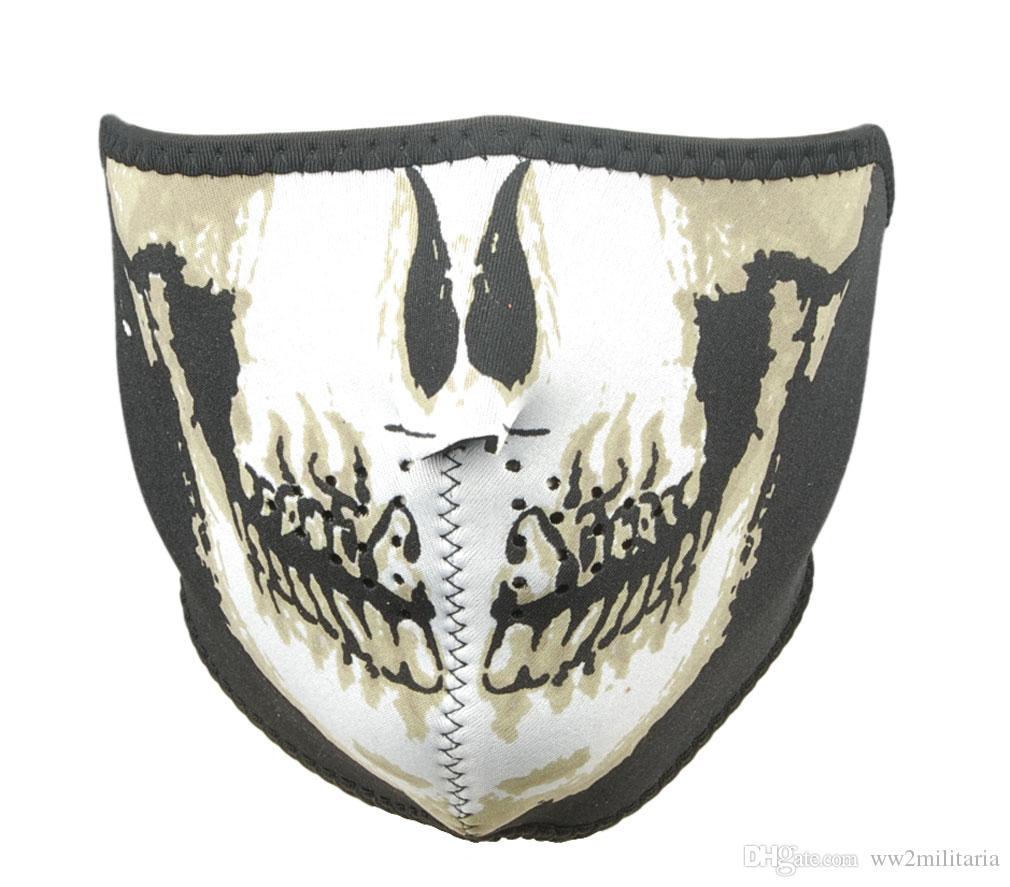 2017 Tactical Navy Seal Swat Skull Half Face Protector