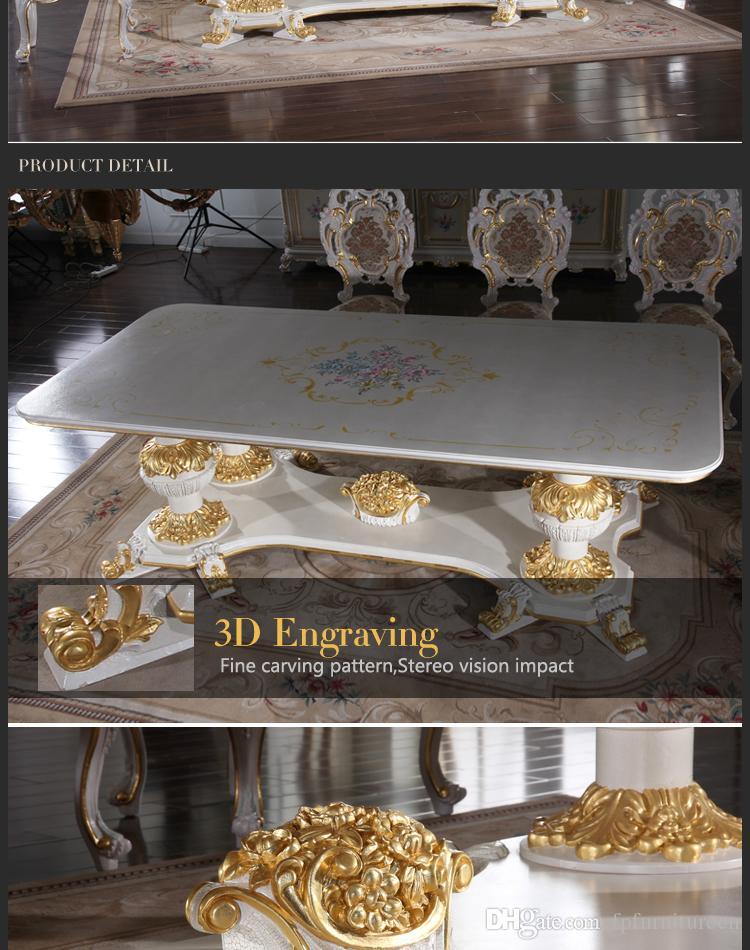 Европейская антикварная мебель для столовой - набор для столовой ручной работы-мебель в итальянском стиле-французская мебель - классический обеденный стул