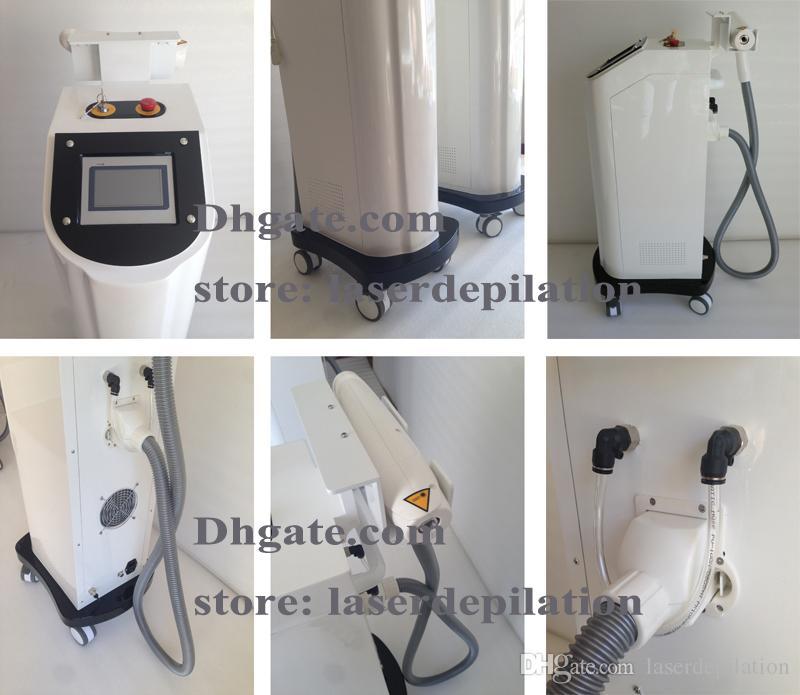 الطبية CE المعتمدة العمودي Q- التبديل Nd Yag Laser 1064/532 / 1320nm إزالة الوشم