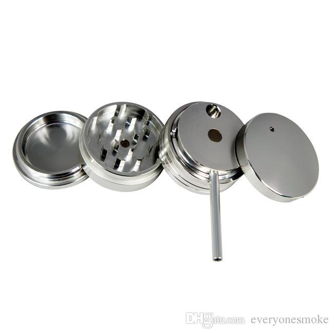 분쇄기, 금속 / 알루미늄 분쇄기, 2inch / 50MM 4 개 부품, 색상 은색, 무료 배송