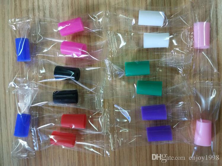 gratuite DHL grand diamètre coloré Embouchure Housse en silicone silicone goutte à goutte embout à usage unique en caoutchouc test Conseils pour Cap Subtank RDA RBA