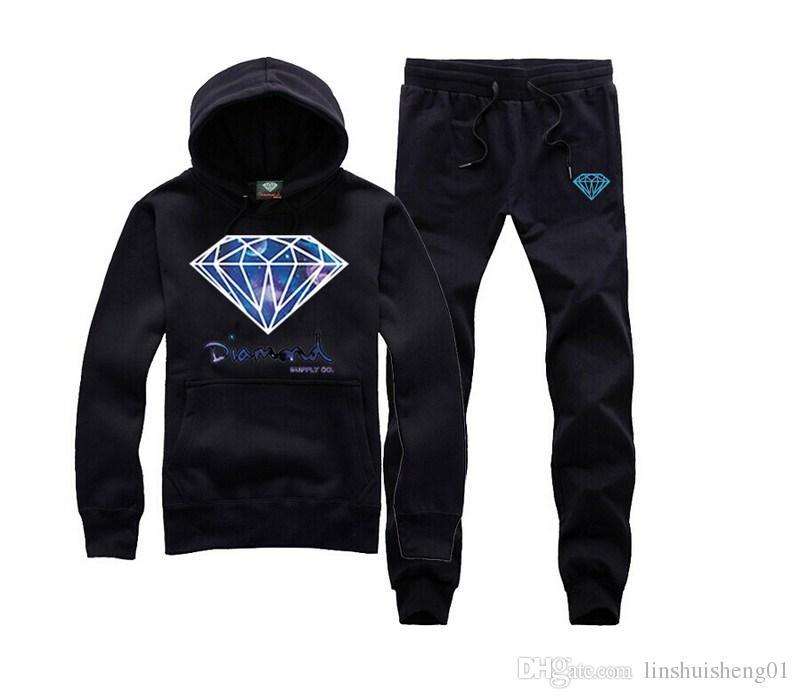 Men's Hoody Sweatshirts Diamond Supply Co Man Hoodies Hip Hop Camisetas Hombre Fitness Hooded Track suits Pullovers