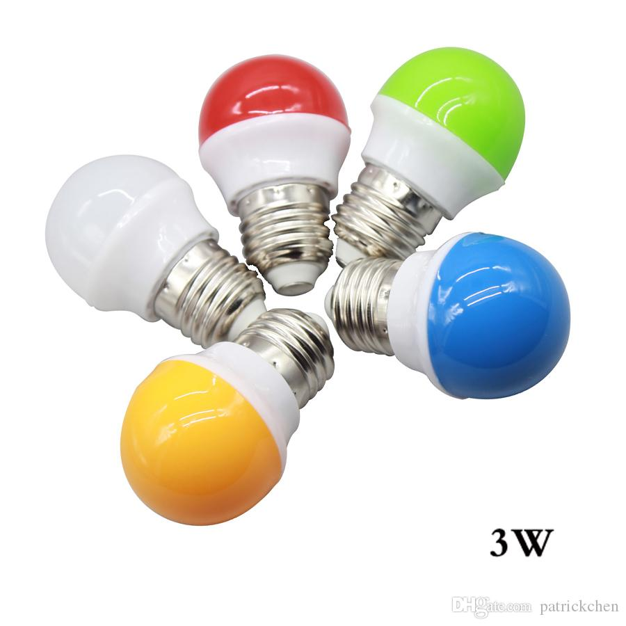 e27 b22 1w 3w led colorful light bulb bombillas led screw neon smd2835 globe lamp fashion disco party christmas lights 220v led bulbs led headlight bulbs