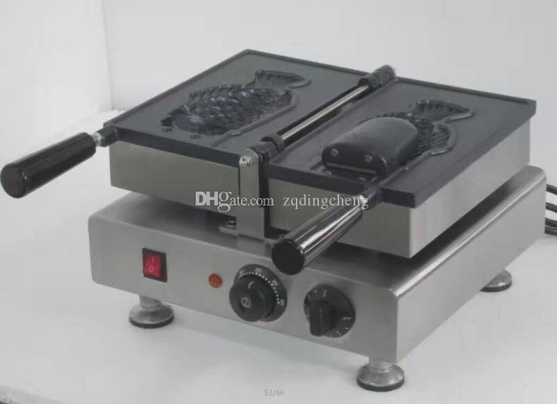 Spedizione gratuita One Pcs Big Fish Waffle Maker Ice Cream Taiyaki Machine