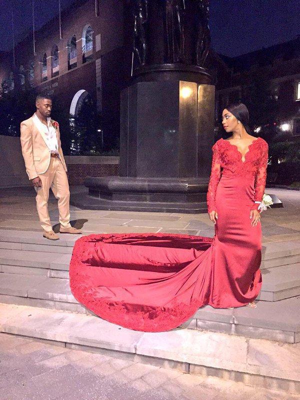 Sexy mangas vermelhas sereia vestidos de noite para as mulheres longo prom dress para festa vestido de festa longo robe de soirée