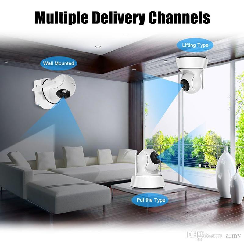 أحدث أمن الوطن اللاسلكية البسيطة كاميرا IP كاميرا مراقبة واي فاي 720P للرؤية الليلية الدوائر التلفزيونية المغلقة كاميرا مراقبة الطفل