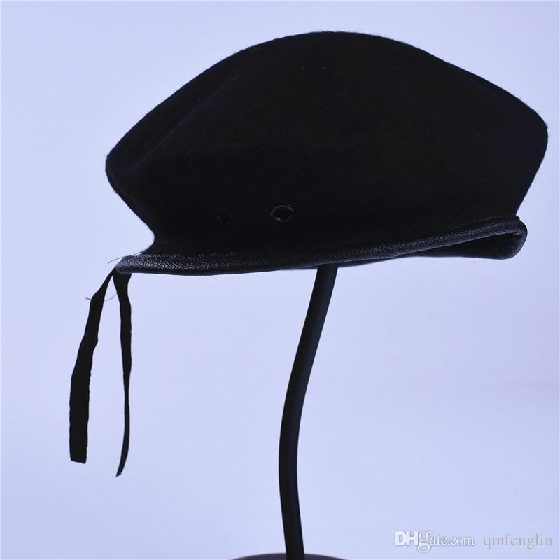 Men and Women Outdoor Breathable Pure Wool Beret Hats Caps Special Forces Soldiers Death Squads Military Training Camp Hat