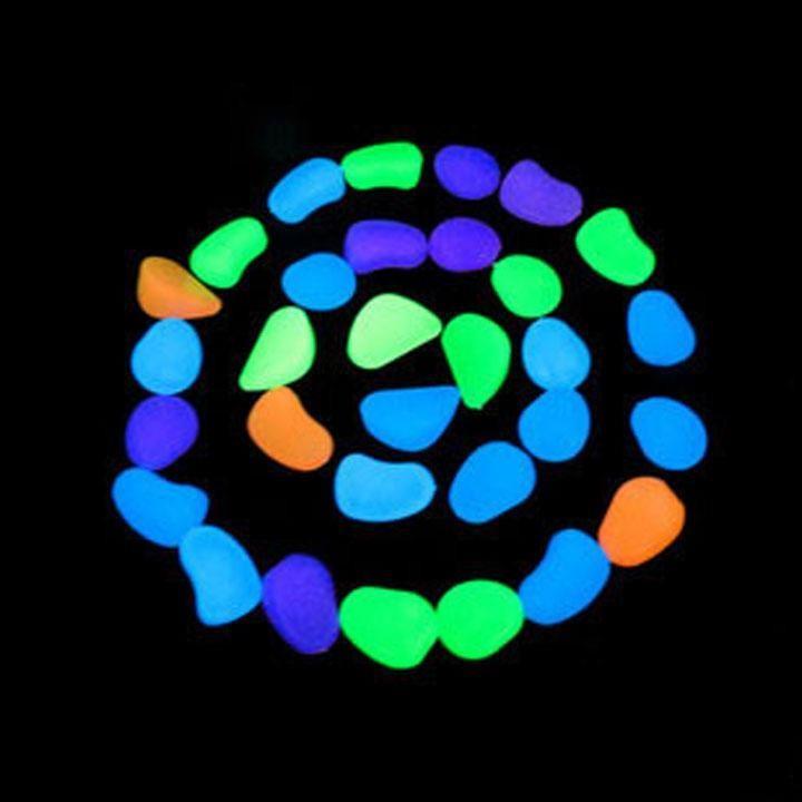 100 Adet / grup Güneş Glow Taş Simülasyon Hafif Aydınlık Çakıl Taş Ev Balık Tankı Dekor Bahçe Koridor Süslemeleri Için