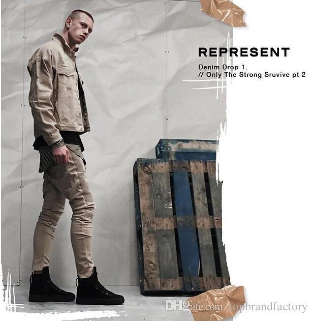 2016 calças de brim da moda masculina de roupas de outono nova marca dos homens calça fina skinny jeans skinny lápis calças masculinas