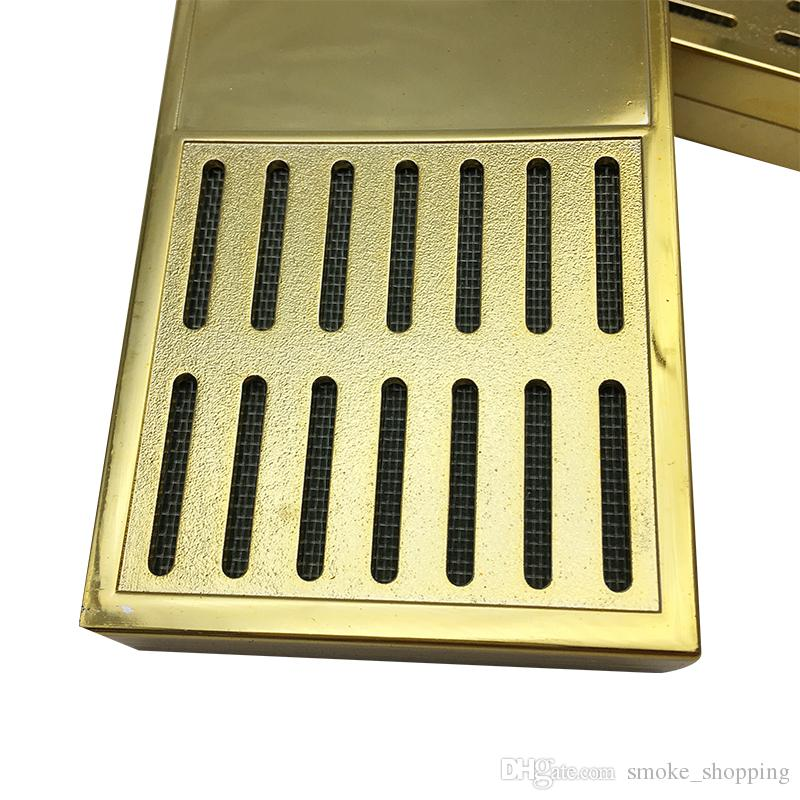 New product rectangular smoking cigar humidor good quality gold color tobacco humidifier tobacco moisture strip