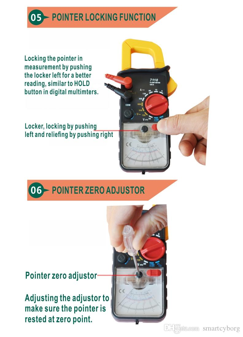 KT7110 data locking tester analog clamp meter 5 function in 11 ranges MAX AC current 300A with strap attaching for easy carrying