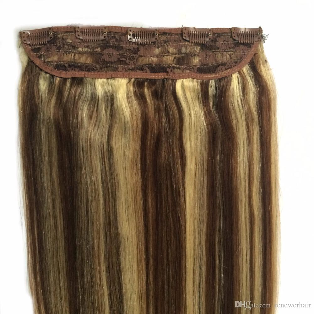 16 18 20 22 24 80g Quad Weft One Piece Clip In Hair Extensions P4