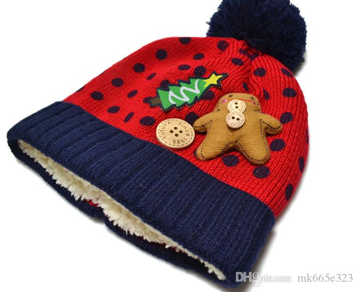 Winter Baby Warm Hats Christmas Beanie Cap Gifts Toddler Kids Boys Girls Lovely Bear Snowman Hat+Scarf Set Fit 1-4Years