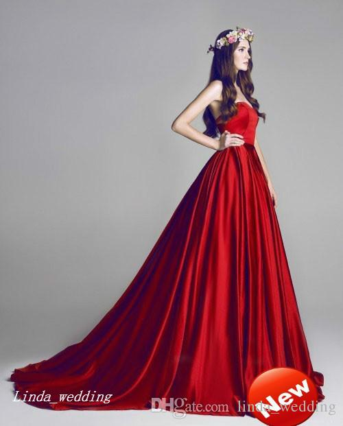 Incroyable Hamda Al Fahim Robe De Soirée Rouge Haute Qualité Sweetheart Long Femmes Portent Une Occasion Spéciale Robe De Bal Parti Robe