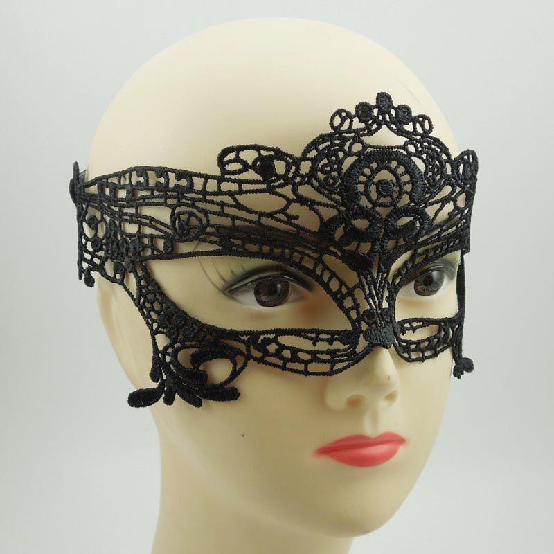 판매 파티 마스크 섹시한 여자 블랙 레이스 마스크 고글 나이트 클럽 패션 퀸 컷 아웃 눈 마스크 반 얼굴 무도회 마스크