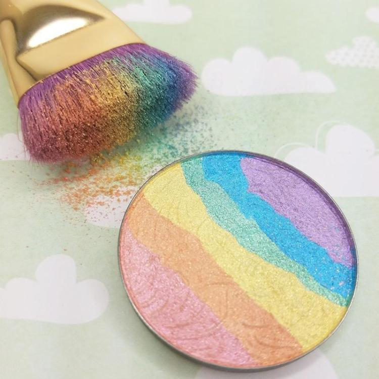 New Rainbow Special Large Prism Highlighter Bitter Lace Beauty Blush Makeup six colors summer feelings highlighter makeup