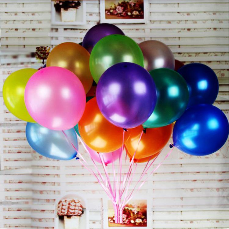 Großhandel 1 Satz 100 Luftballons Balloon Light Ball 10inch Latex