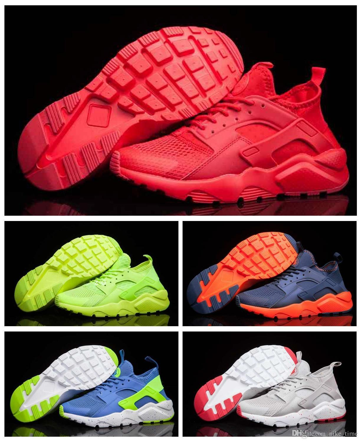 size 40 1b535 42da4 2018 New Air Huarache Ultra Breathe All Red Mesh Huarache Shoes Men And Women S  Air Huaraches Running Sneakers Size 36 46 Winter Running Shoes White Running  ...