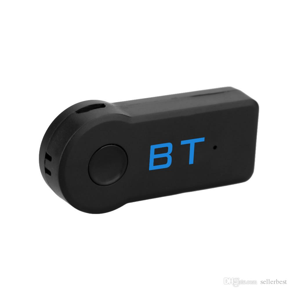 Mini 3.5mm Car A2DP Wireless Bluetooth Car Kit AUX Audio Music Receiver Adattatore Hands free con microfono sistema Home Car Audio