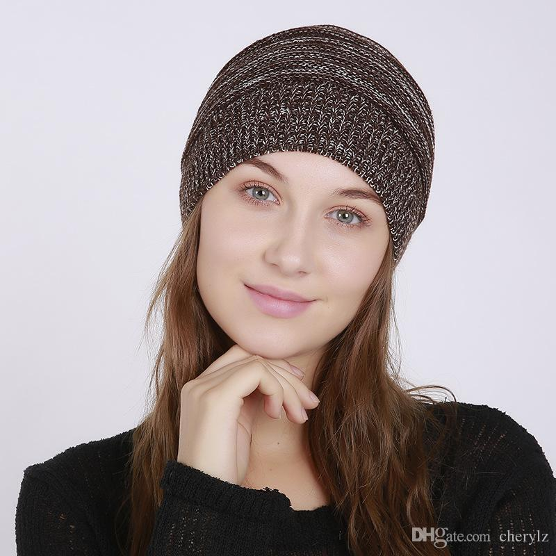 Winter Beanie Knit Wool Hat Warm Cap Coll For Mens Womens Black Navy Gray Brown Fashion Clothes Accessory Good Gifts DC43