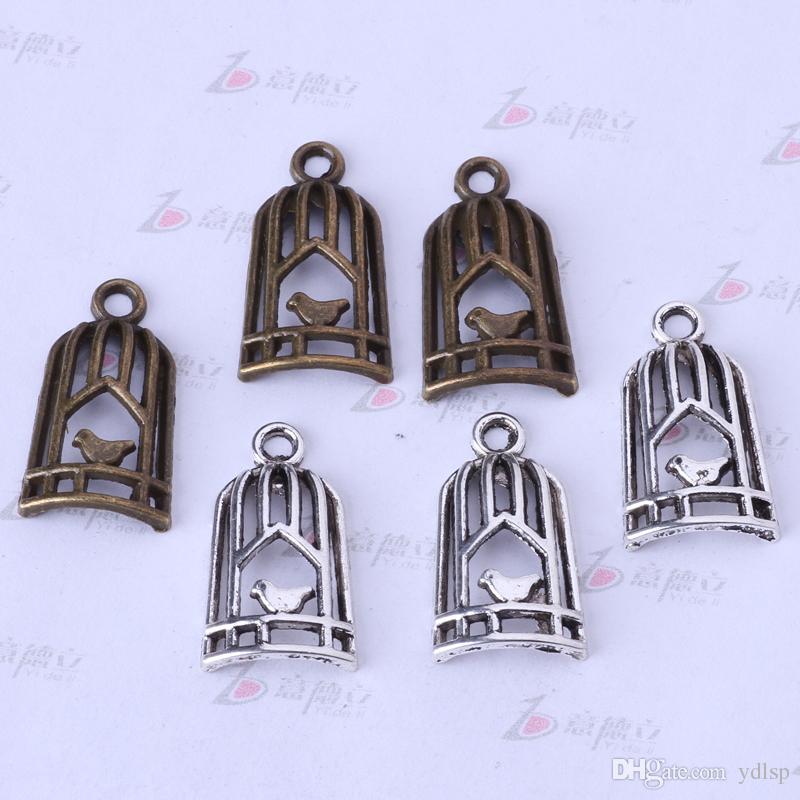 Plata antigua / bronce colgante de jaula de bricolaje joyería de bricolaje pulseras o collar encantos de la aleación / 3332z