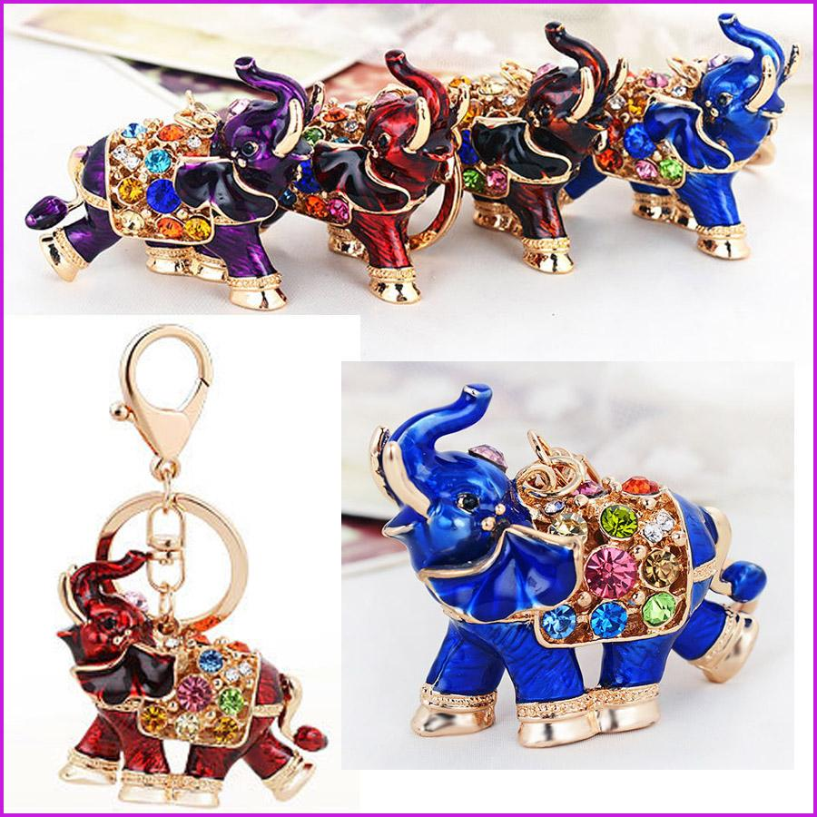 Thailand Elephant Lucky Keychain Key Chain   Key Ring Holder Car ... a27a1a799