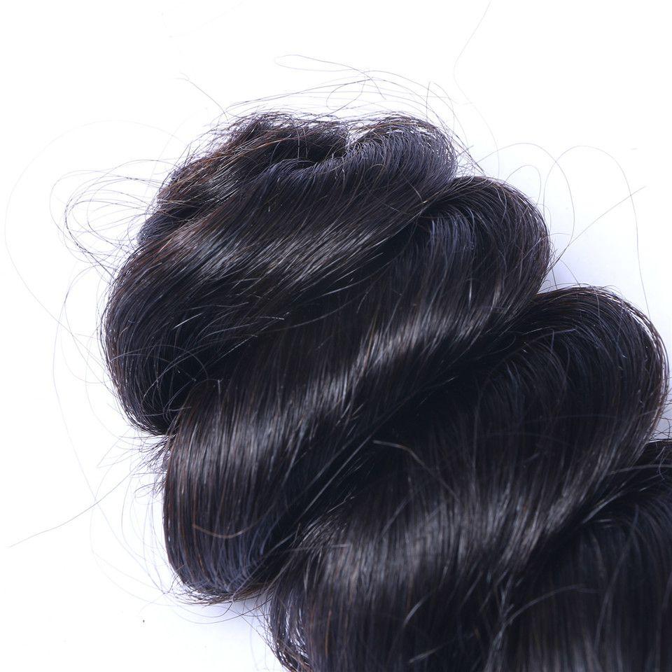 Non trasformato Brasiliano Human Remy Vergurg Vergin Wave Wave Weaves Capelli Estensioni capelli Colore naturale 100G / Bundle Double WeFts 3bundles /