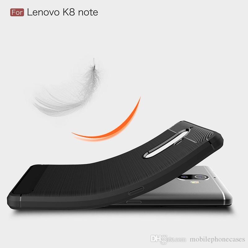 Fiber De Carbone Cas Pour Lenovo K8 Note robuste résistant aux chocs armure cas pour Lenovo K8 Note couverture 2017 vente chaude
