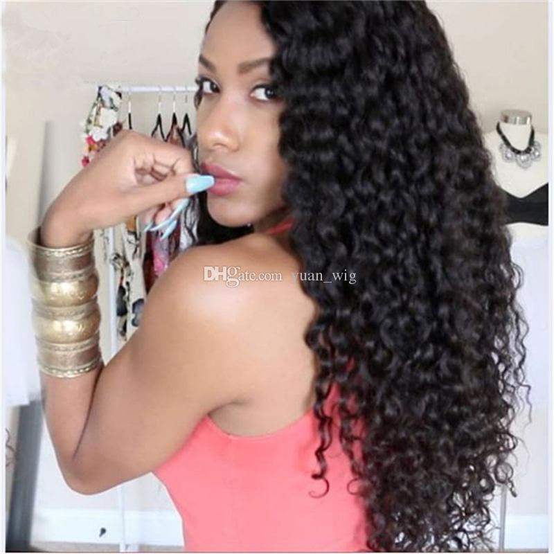 Deep Curly Lace Wigs Brazilian Lace Front Human Hair Wigs With Baby Hair Glueless Full Lace Human Hair Wigs For Black Women
