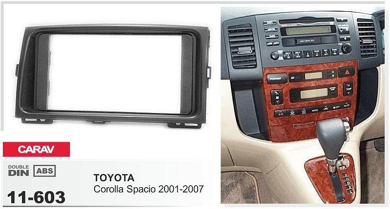 Carav 11 603 Car Radio Fascia Panel For Toyota Corolla Spacio 2001 Rhdhgate: Car Radio Wiring Harness Kits For Toyota Corolla At Gmaili.net