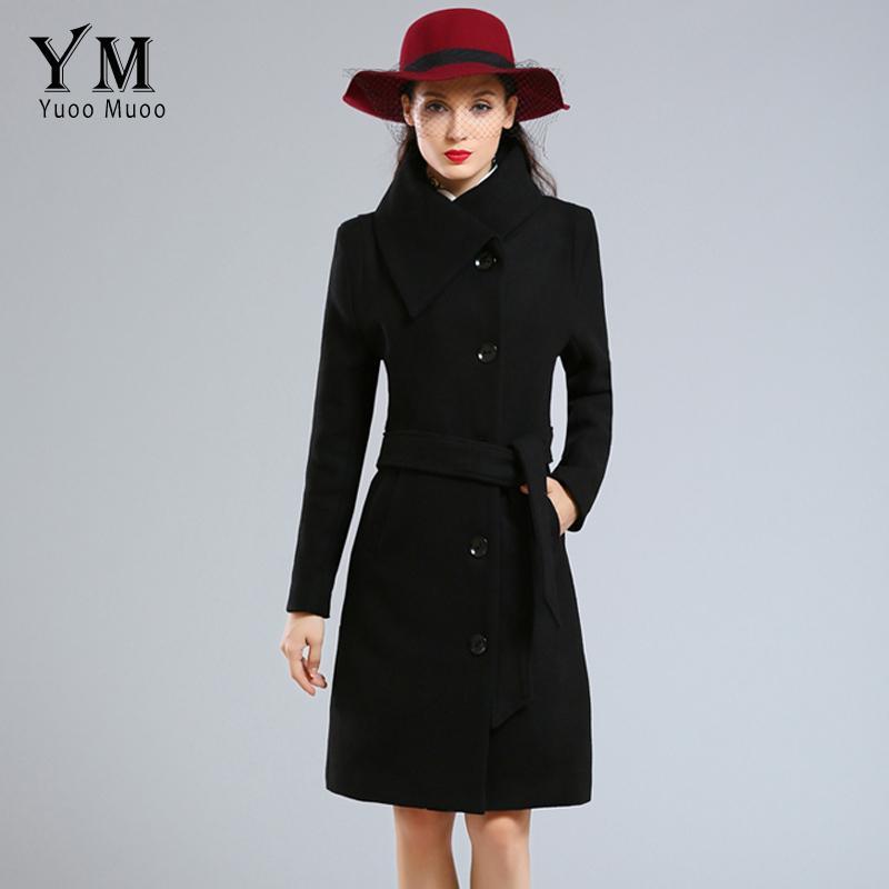 Yuoomuoo Brand Fashion Plus Size Winter Coat Women Long Wool Coats ...