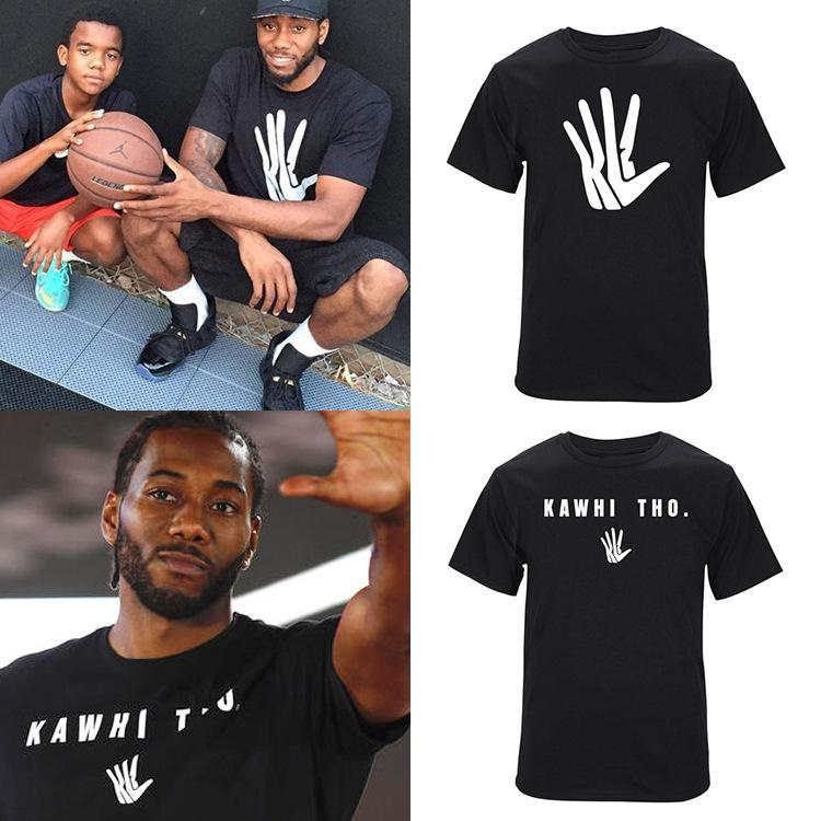 Men Fashion Kawhi Leonard T Shirt Kl2 Hand Logo Men Print T Shirt